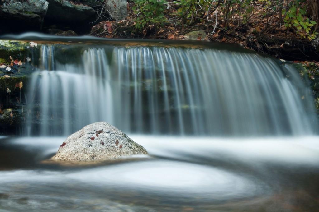 A small waterfall at Minnewaska State Park.