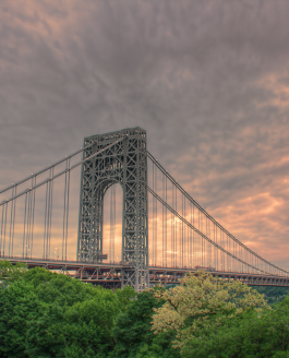Fort Tryon Park and the George Washington Bridge