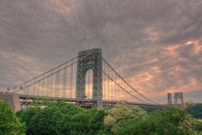 The George Washington Bridge at Sunset.