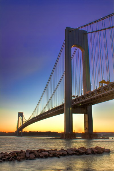 Verazzano-Narrows Bridge at Sunset