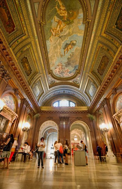 The interior of the McGraw Rotunda at the New York Public Library.
