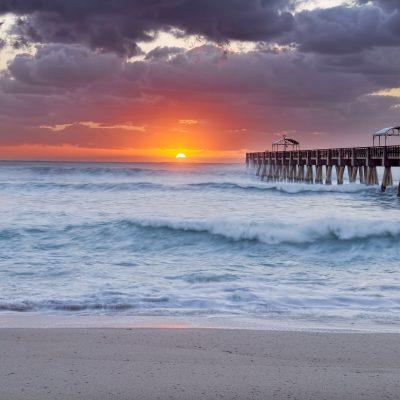 Florida sunrise, taken from Lake Worth, FL